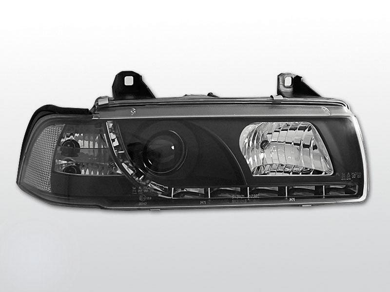 BMW E36 fekete Daylight Elsõ Lámpa