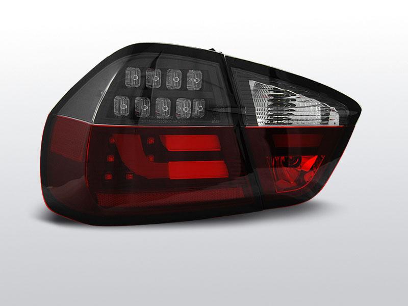 BMW E90 03.05-08.08 Piros fehér fekete led-es hátsó lámpa