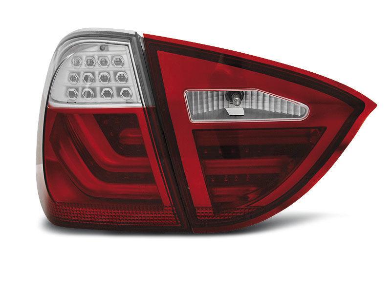 BMW E91 05-08 Piros-Fehér LED BAR Hátsó lámpa