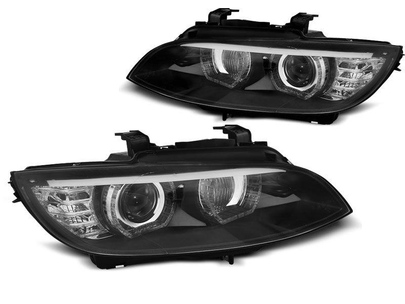 BMW E92/E93 2006-2010 Fekete ANGEL EYES LED HID Elsõ Lámpa