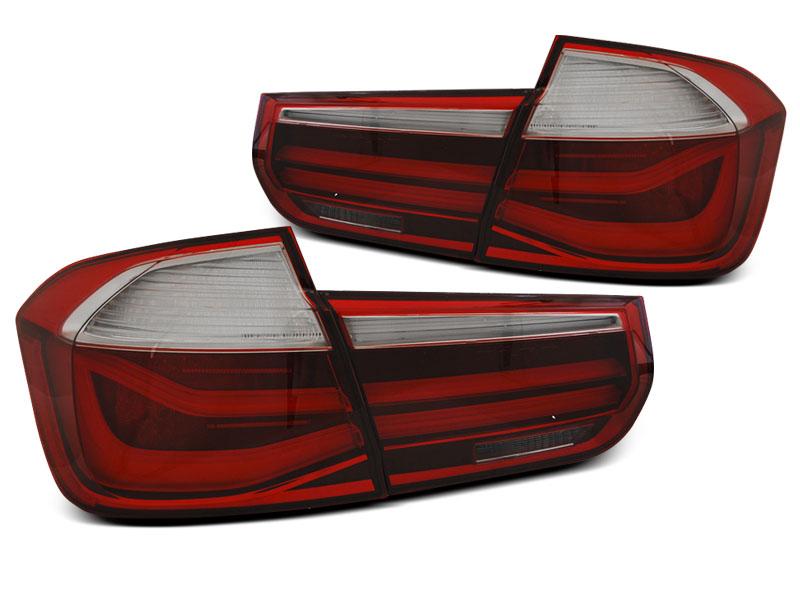 BMW F30 11-15 Piros Füstös LED BAR Hátsó Lámpa