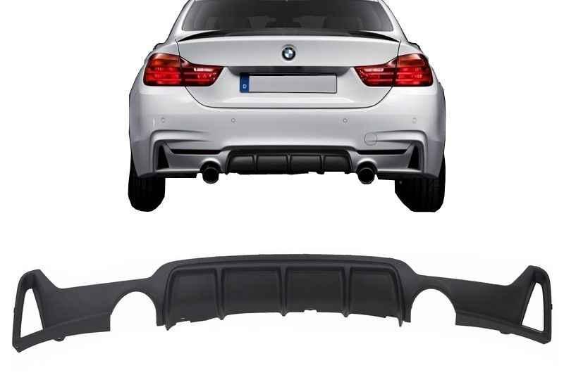 BMW F32 / F33, M4 Style Hátsó Lökhárító Toldat, Diffúzor