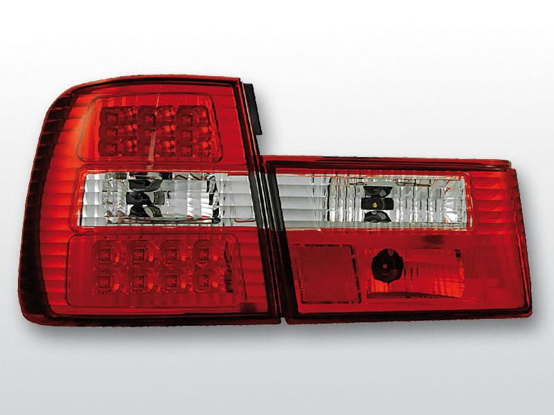 BMW E34 02.88-12.95 Piros Fehér LED -es hátsó lámpa