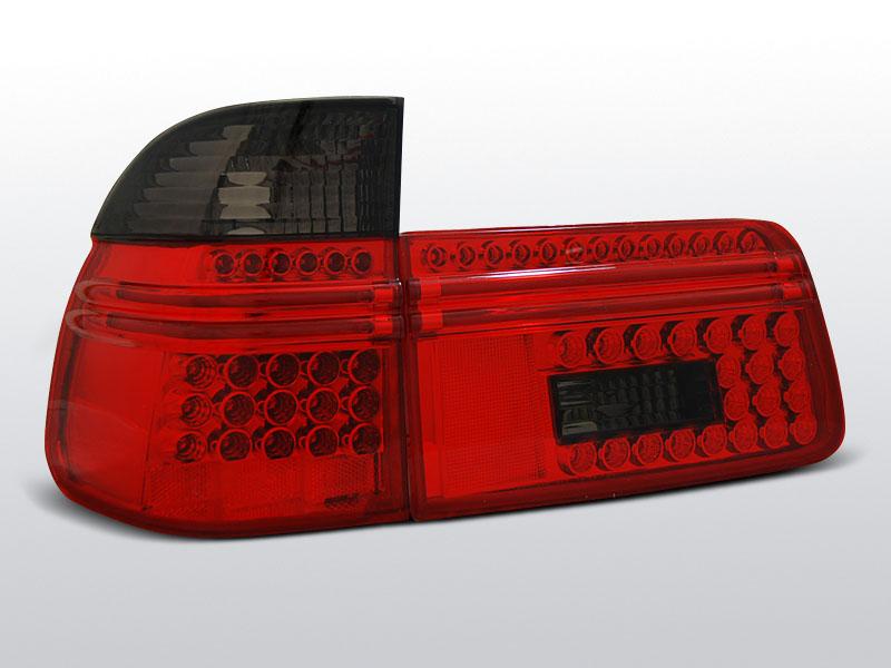 BMW E39 97-08.00 TOURING Piros Sötétített LED -es hátsó lámpa