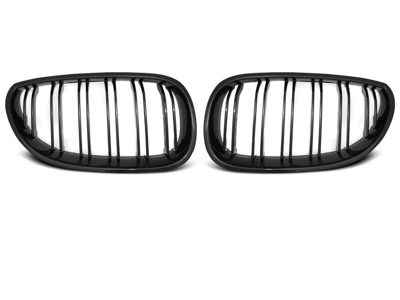 BMW E60 / E61 07.03-10 Fényes Fekete Dupla Ráccsal