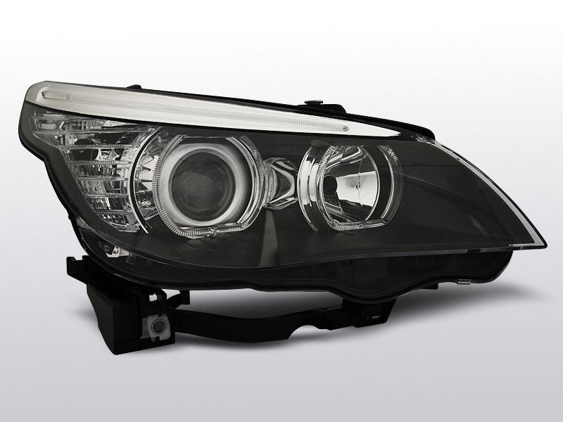BMW E60/E61  Fekete ANGEL EYES LED H7/H7 Elsõ Lámpa