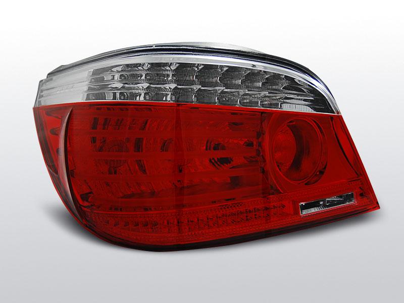 BMW E60 07.03-07 Piros-Fehér LED-es Hátsó lámpa