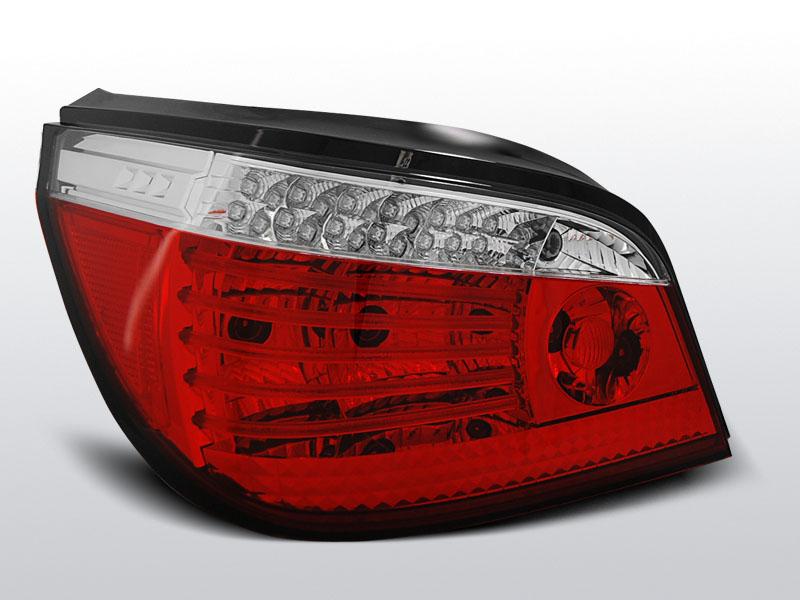 BMW E60 07.03-07 Piros Fehér LED -es hátsó lámpa
