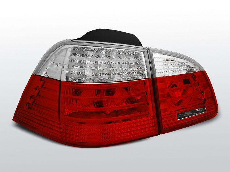 BMW E61 04-03.07 TOURING Piros-Fehér LEDes Hátsó lámpa