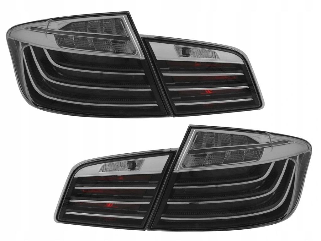 BMW F10 10-07.13 Fekete Króm LED hátsó lámpa