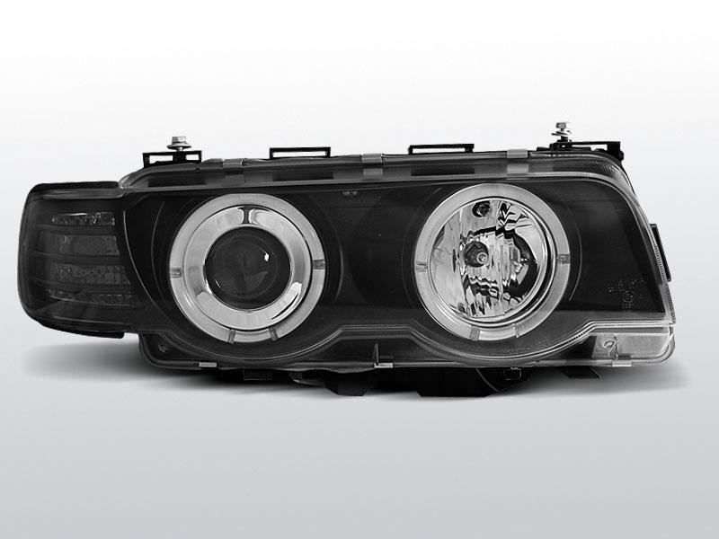 BMW E38 1998.09-2001.07 Fekete ANGEL EYES XENON Elsõ Lámpa