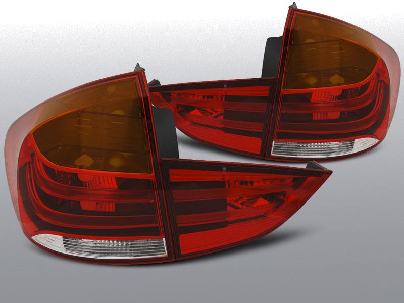 BMW X1 E84 10.09-07.12 Piros-Fehér LED Hátsó lámpa