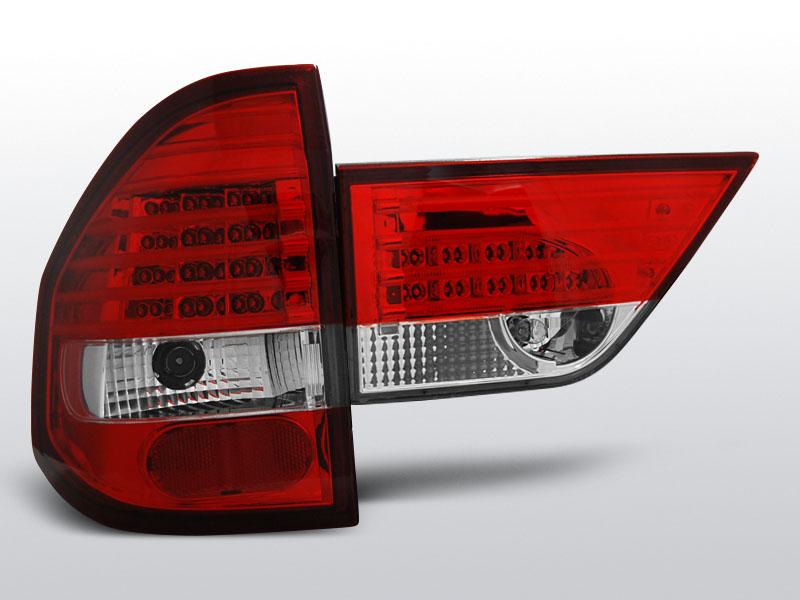 BMW X3 E83 01.04-10 Piros Fehér LED -es hátsó lámpa
