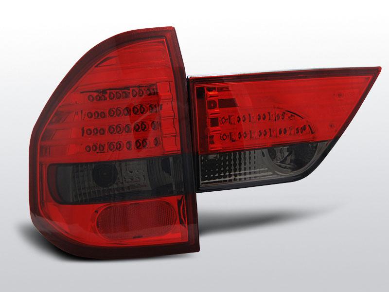 BMW X3 E83 01.04-10 Piros Sötétített LED -es hátsó lámpa