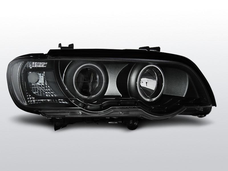 BMW X5 E53 1999.09-2003.10 Fekete ANGEL EYES Elsõ Lámpa