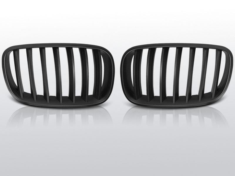 BMW X5 E70 X6 E71 08- Fekete jelnélküli rács