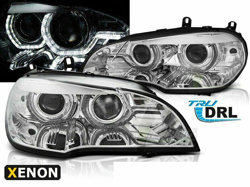 BMW X5 E70 2007-2010 Króm AE DRL LED HID Elsõ Lámpa
