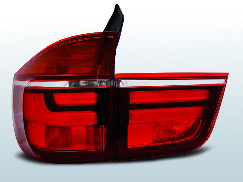 BMW X5 E70, Led BAR Hátsó Lámpa 03.07-05.10 Piros-Fehér