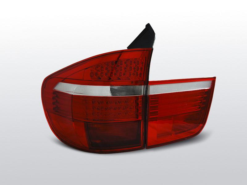 BMW X5 E70 03.07-03.10 Piros Fehér LED Hátsó lámpa