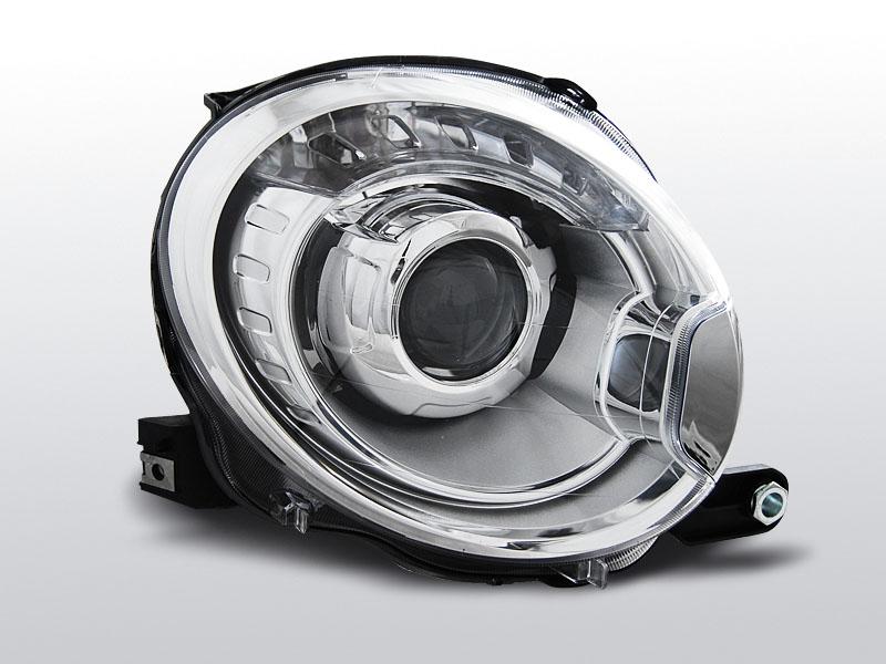 FIAT 500 2007-2015 Króm Projektoros LED Els? Lámpa