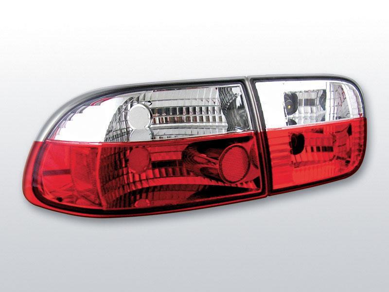 HONDA CIVIC 09.91-08.95 2D/4D Piros Fehér hátsó lámpa