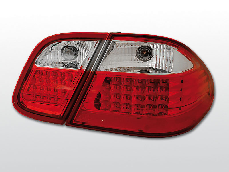 MERCEDES W208 CLK 03.97-04.02 Piros Fehér LED -es hátsó lámpa