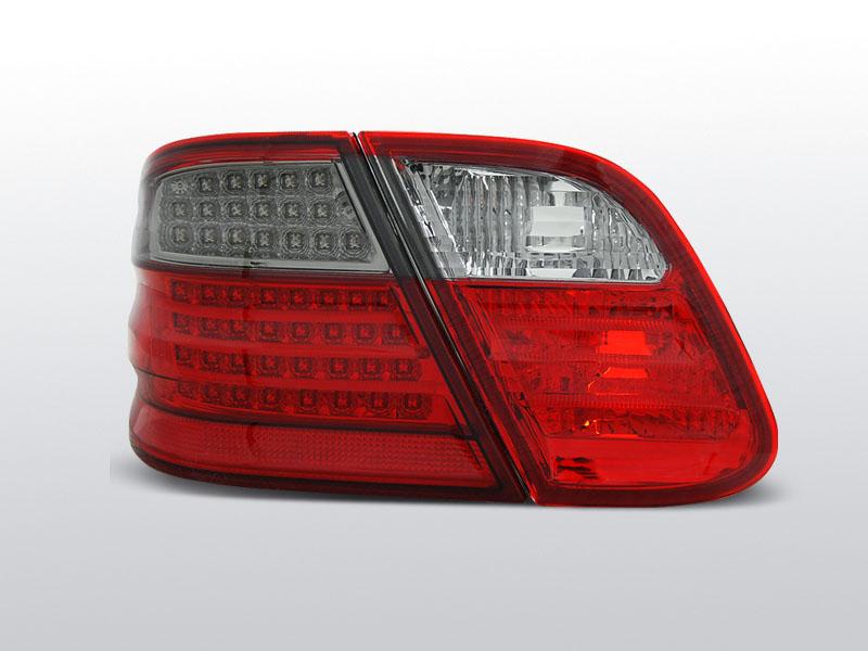 MERCEDES W208 CLK Piros-Füstös Led-es Hátsó lámpa 03.97-04.02
