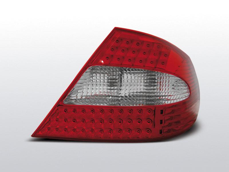 MERCEDES W209 CLK Piros-Fehér LEd-es Hátsó lámpa 03-10